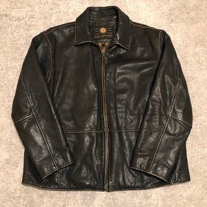 Andrew Marc New York Dark Brown Leather Jacket XXL